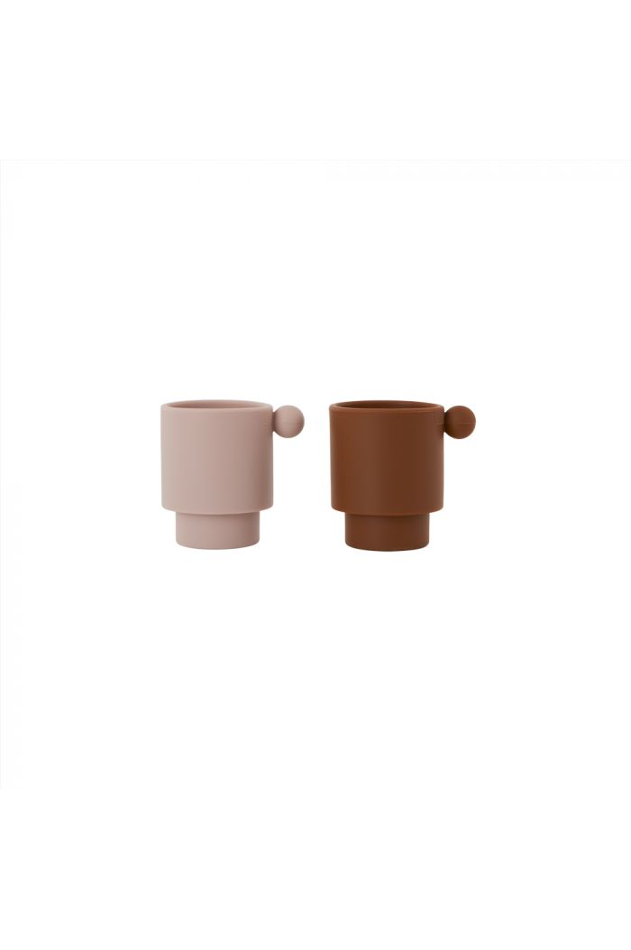 OYOY Tiny Inka Cup, Pack of 2 Caramel / Rose_1