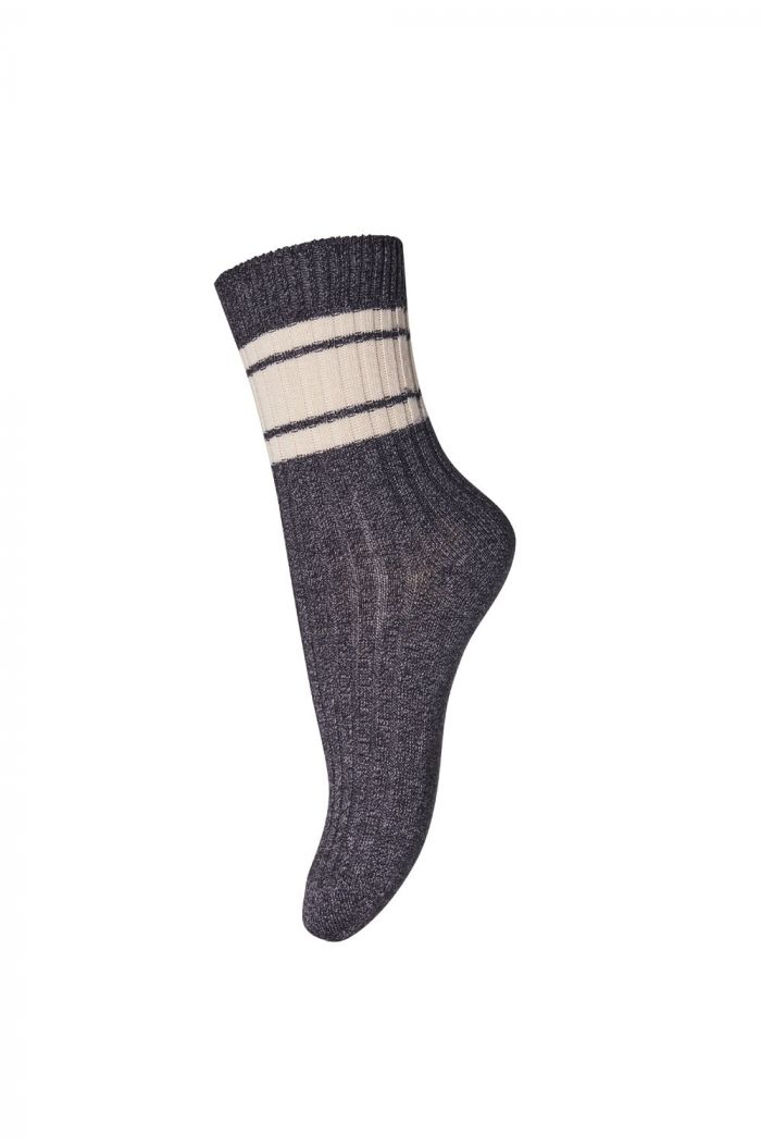 MP Denmark Ankle socks Hugo 497 Dark Grey Marled_1