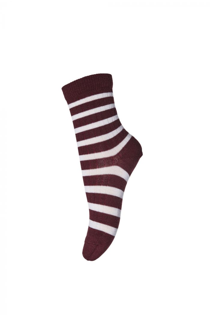 MP Denmark Ankle socks Elis 16 Dark Wine Red_1