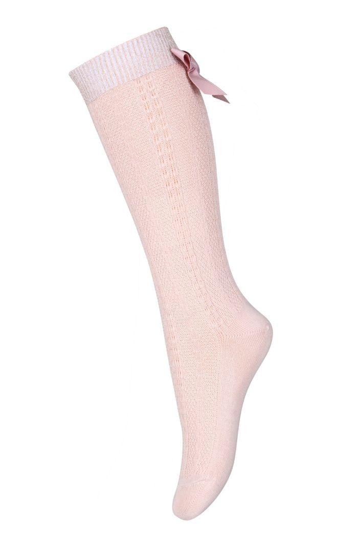 MP Denmark Sofia knee socks with bow 853 Rose dust_1