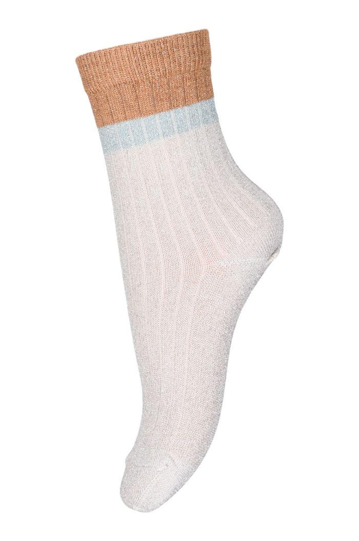 MP Denmark Norma glitter socks 4109 Ecru_1