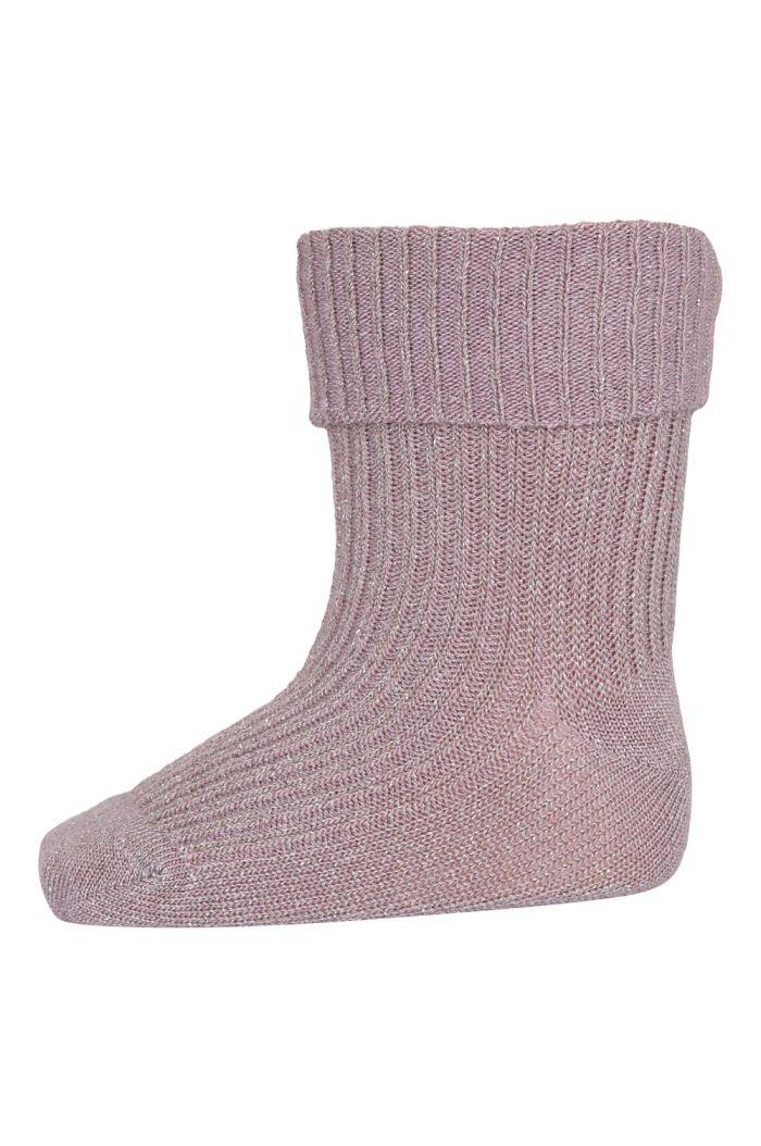 MP Denmark Ida glitter socks 188 Wood Rose_1