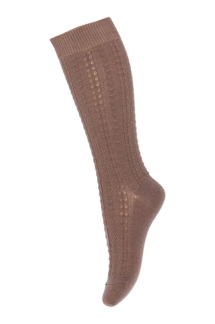 MP Denmark Anna knee socks 76 Brown Sienna