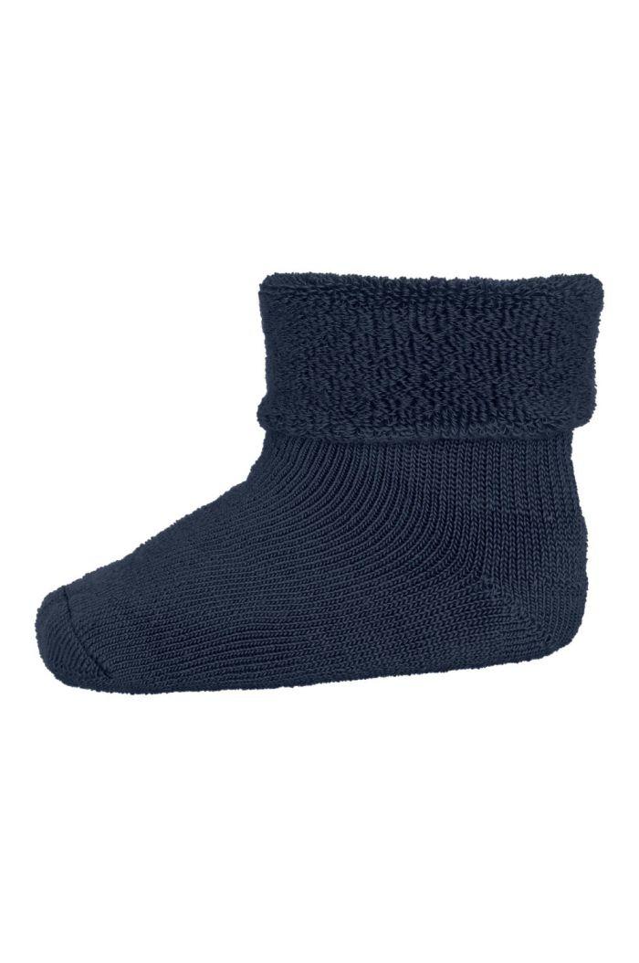 MP Denmark Wool/cotton socks 498 Dark Denim Melange