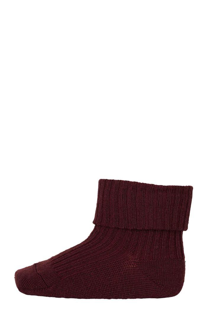 MP Denmark Cotton rib baby socks 1451 Wine Red_1