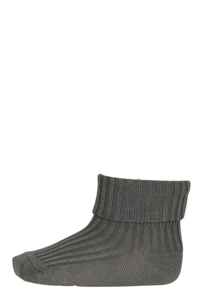 MP Denmark Cotton rib baby socks 3010 Agave Green_1