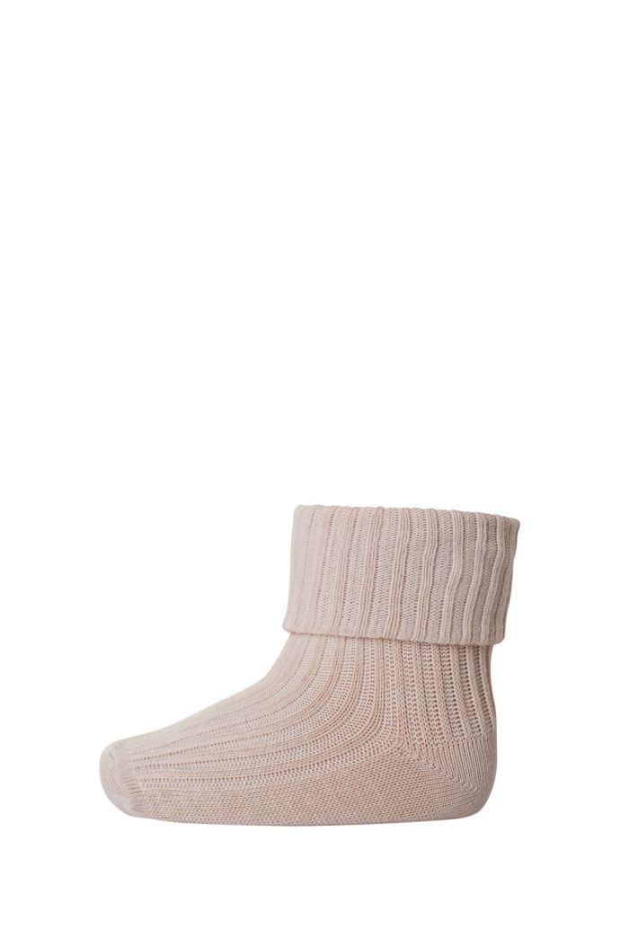 MP Denmark Rib wool baby socks 853 Rose dust