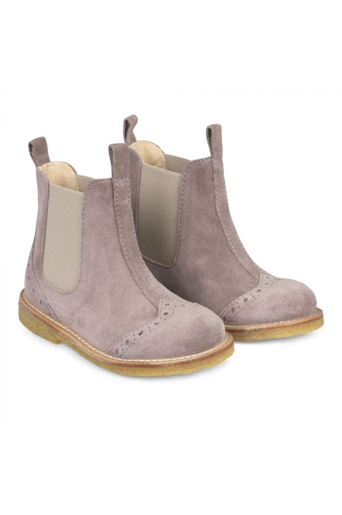 Angulus Classic Chelsea boot with elastic Lavender/Beige_1
