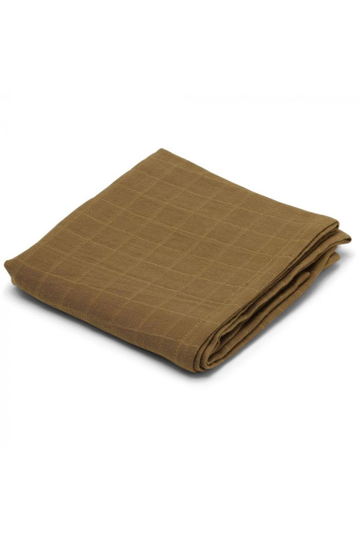 Konges Sløjd 1 Pcs Muslin Cloth Dark Honey_1