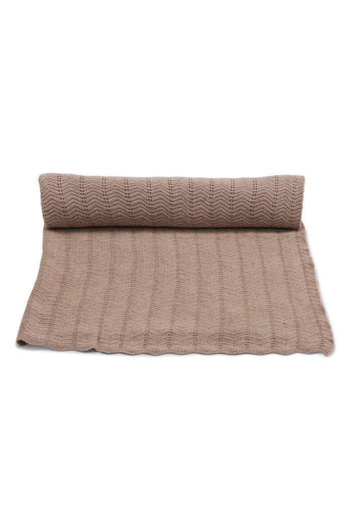 Konges Sløjd Blanket Pointelle Deux Brown Melange_1