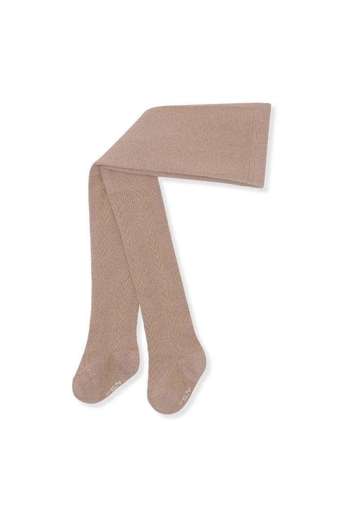 Konges Sløjd Pointelle Stockings Almond_1