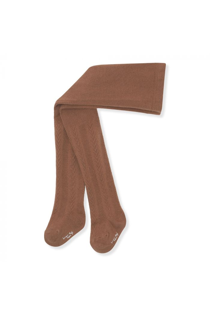 Konges Sløjd Pointelle Stockings Choco Bean_1