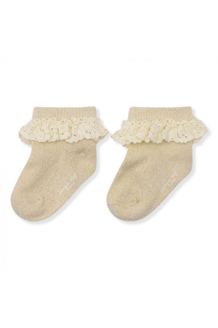 Konges Sløjd Lace Socks Lurex Creme_1
