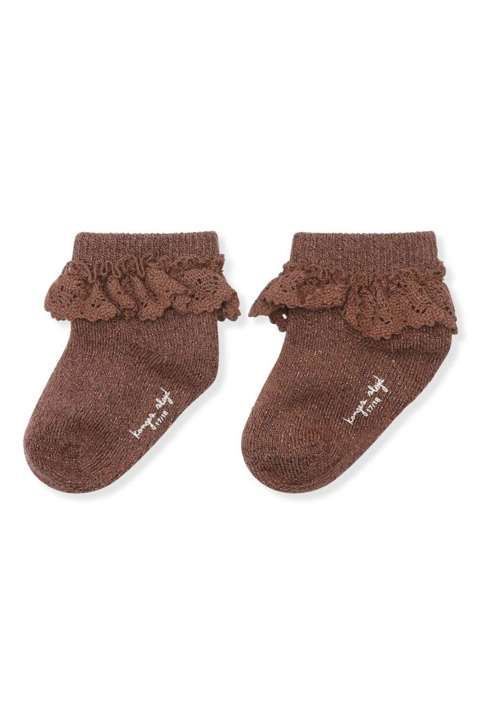 Konges Sløjd Lace Socks Lurex Mocca_1
