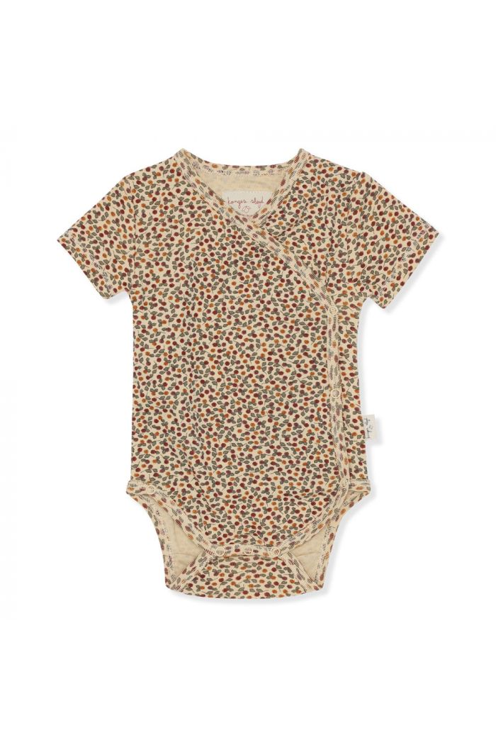 Konges Sløjd New Born Body Short Sleeve Rosarie-Red_1