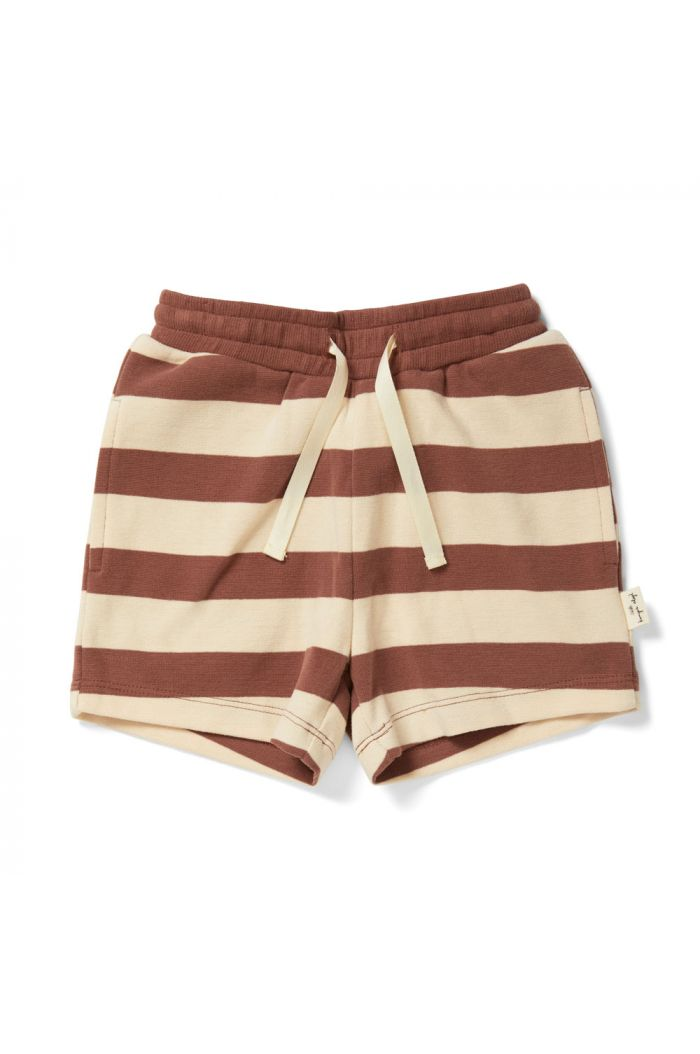 Konges Sløjd Lou Shorts Striped Fig Brown_1