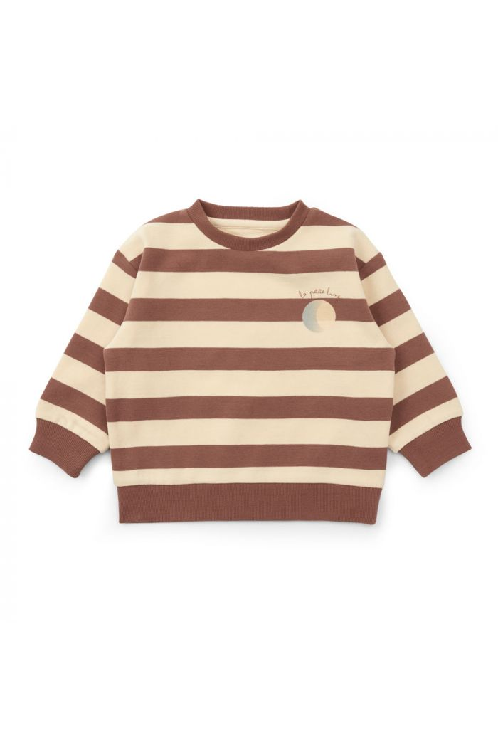 Konges Sløjd Lou Sweatshirt Striped Fig Brown_1