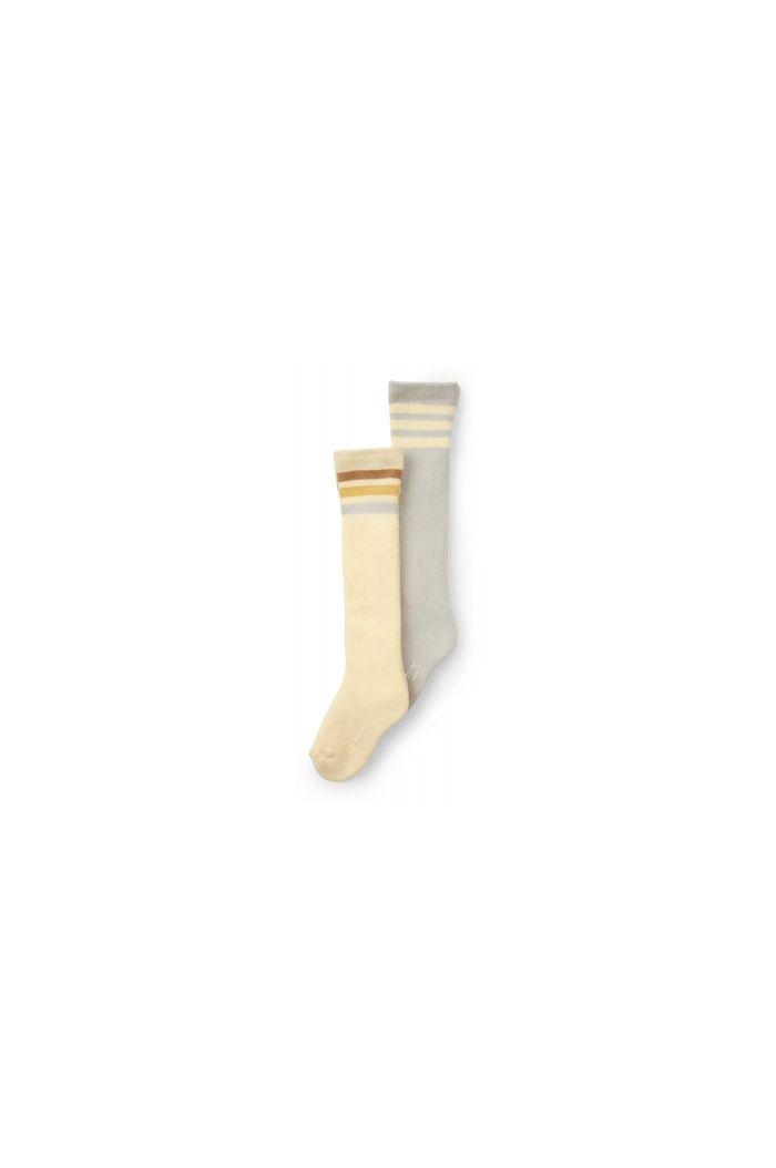 Konges Sløjd 2 Pack Long Socks Lemon Sorbet/Mint_1