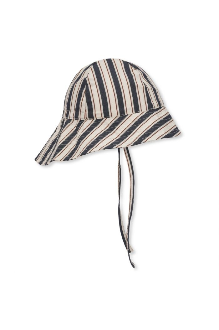 Konges Sløjd Verbena Baby Sunhat Stripe Navy_1