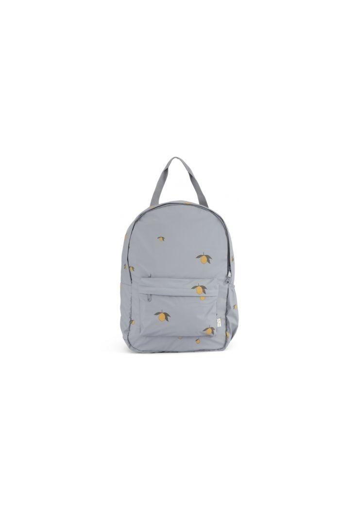 Konges Sløjd Rain Kids Backpack Junior Deux Lemon French_1
