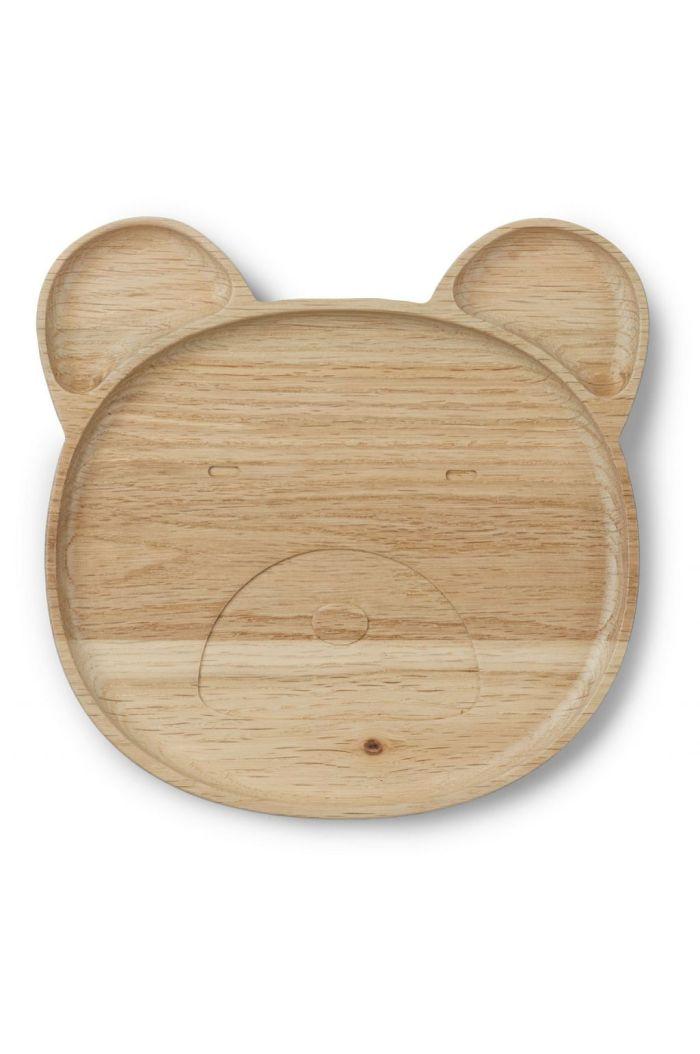 Liewood Conrad wood plate Mr bear natural