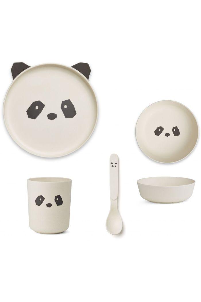 Liewood Bamboo box set Panda creme de la creme