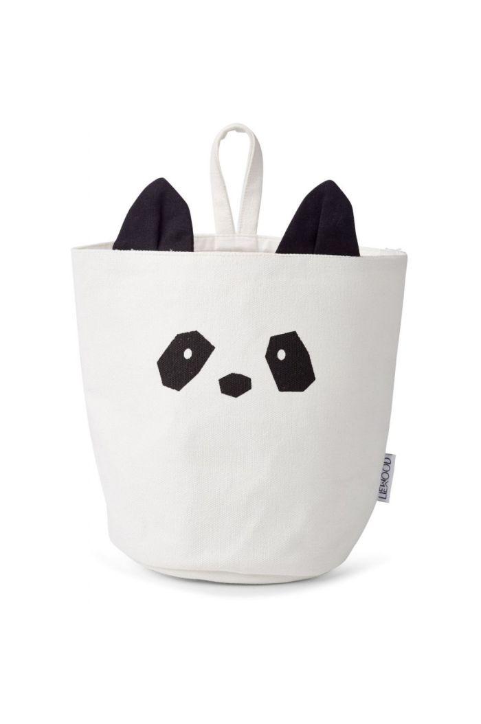 Liewood Ib fabric basket Panda creme de la creme
