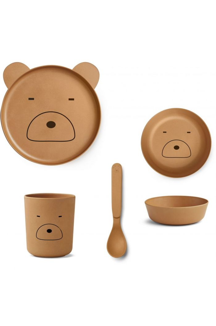 Liewood Bamboo box set Mr bear mustard