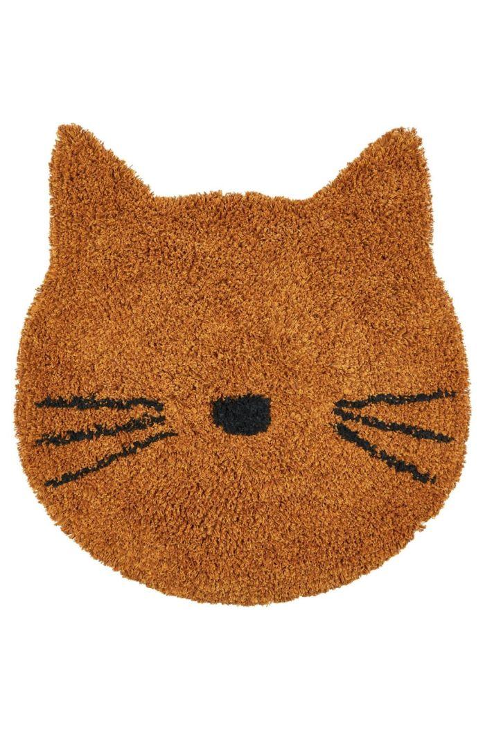 Liewood Bobby rug Cat mustard