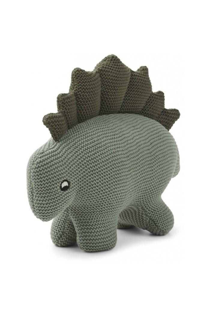 Liewood Stego dino knit teddy Faune Green_1