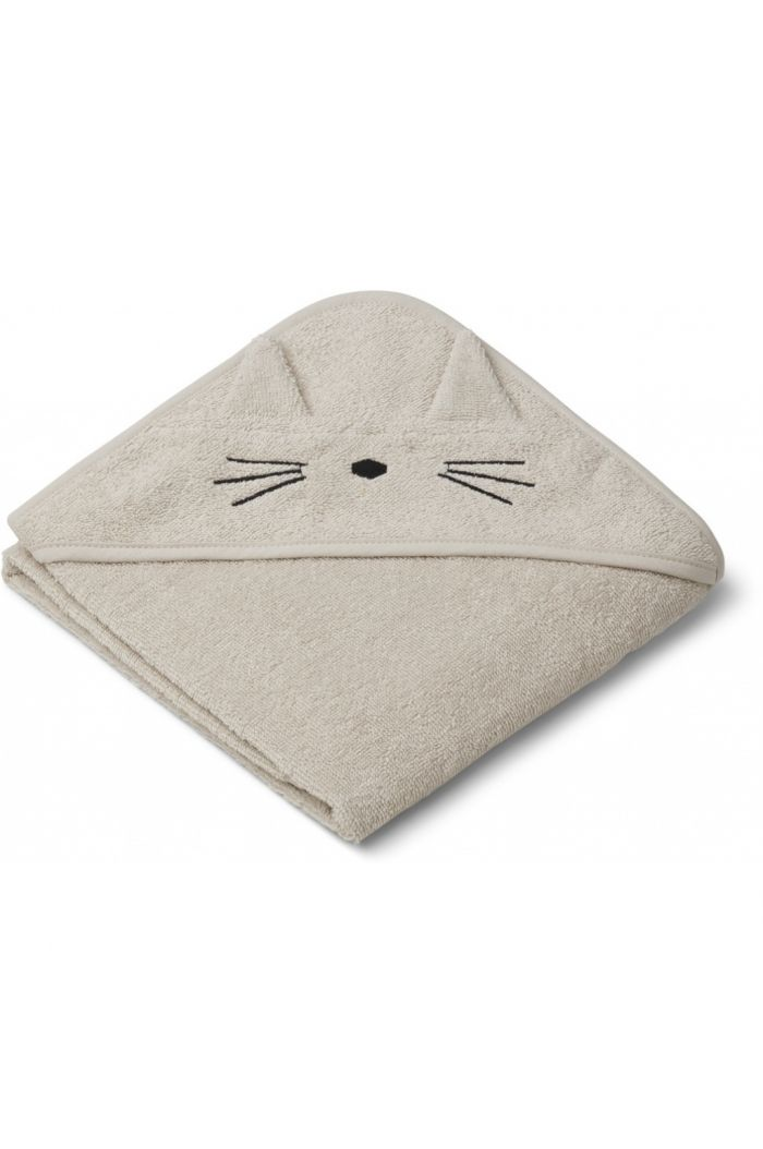 Liewood Albert Hooded Towel Cat sandy