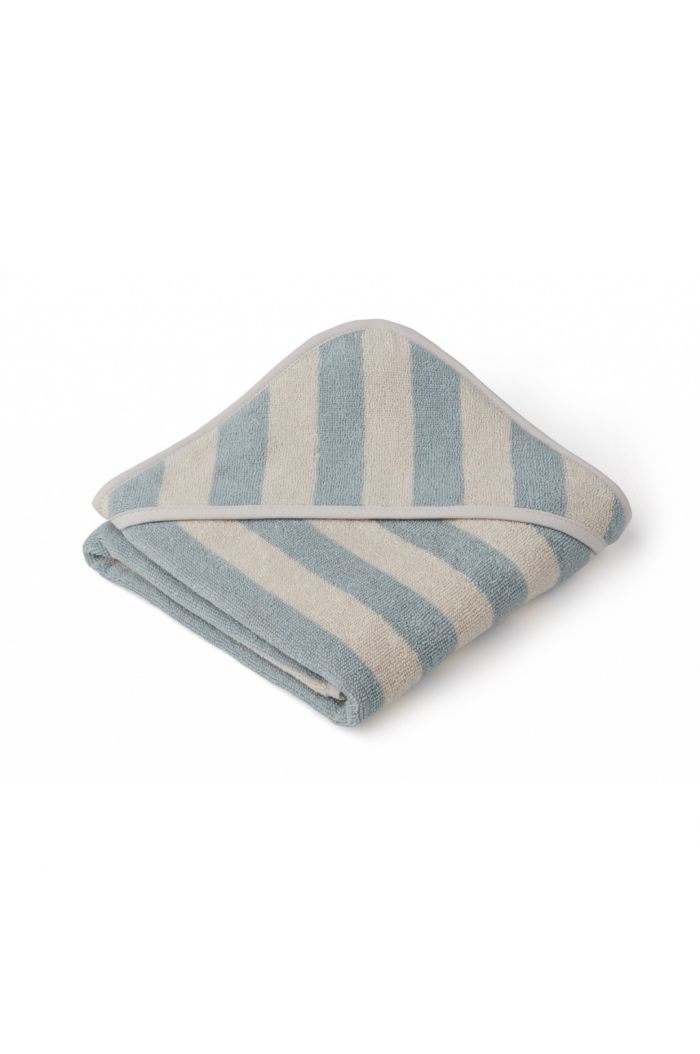 Liewood Alba Hooded Towel Sea blue / Sandy_1