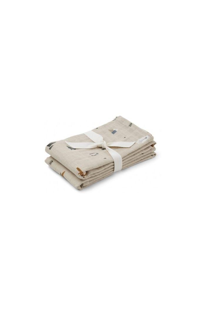 Liewood Lewis Muslin Cloth 2-Pack Arctic mix_1