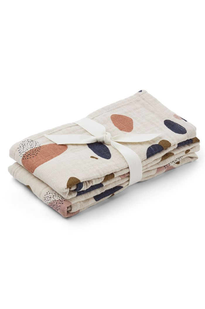 Liewood Lewis Muslin Cloth 2-Pack Bubbly Sandy_1