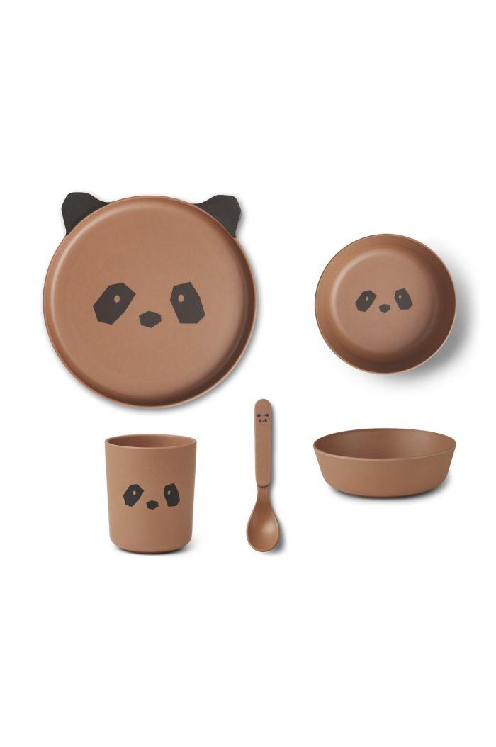 Liewood Bamboo box set Panda Tuscany Rose_1