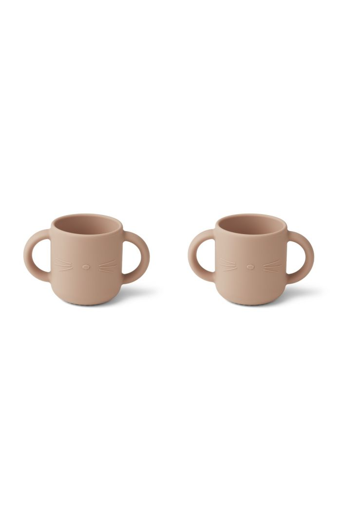 Liewood Gene Silicone Cup 2-pack Cat rose