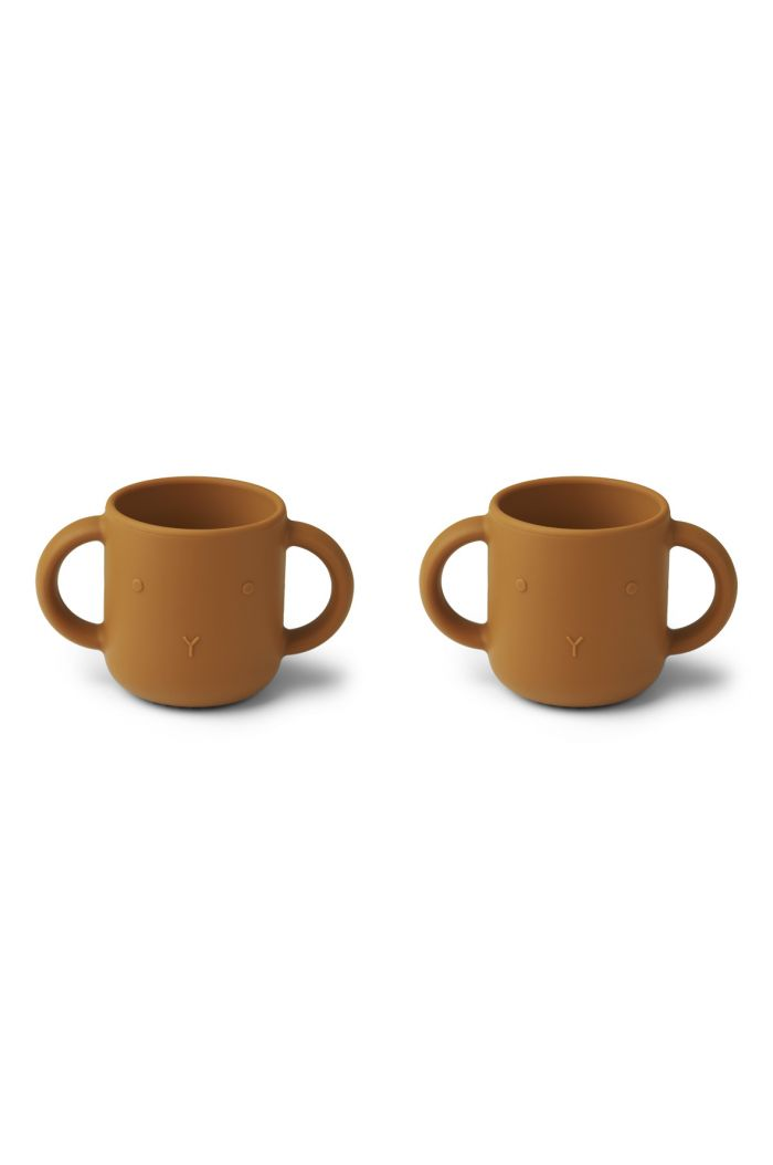 Liewood Gene Silicone Cup 2-pack Rabbit Mustard