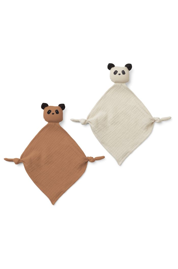 Liewood Yoko Mini Cuddle Cloth 2-pack Panda Tuscany Rose/Sandy Mix