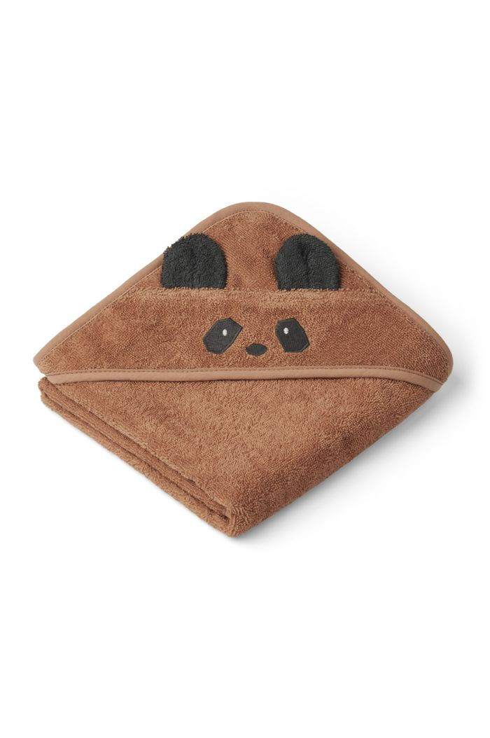 Liewood Albert Towel Hooded Panda Tuscany Rose_1