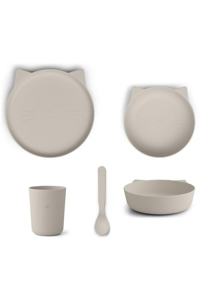 Liewood Paul Tableware Set - Cat Sandy _1
