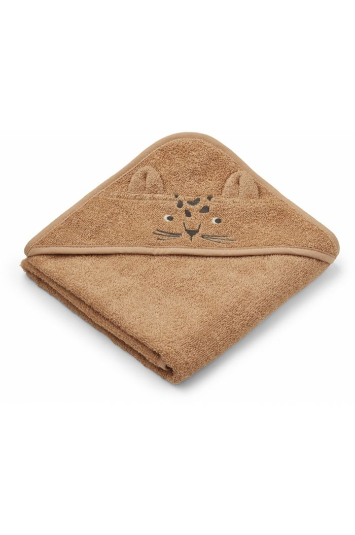 Liewood Albert Hooded Towel Leopard Apricot_1