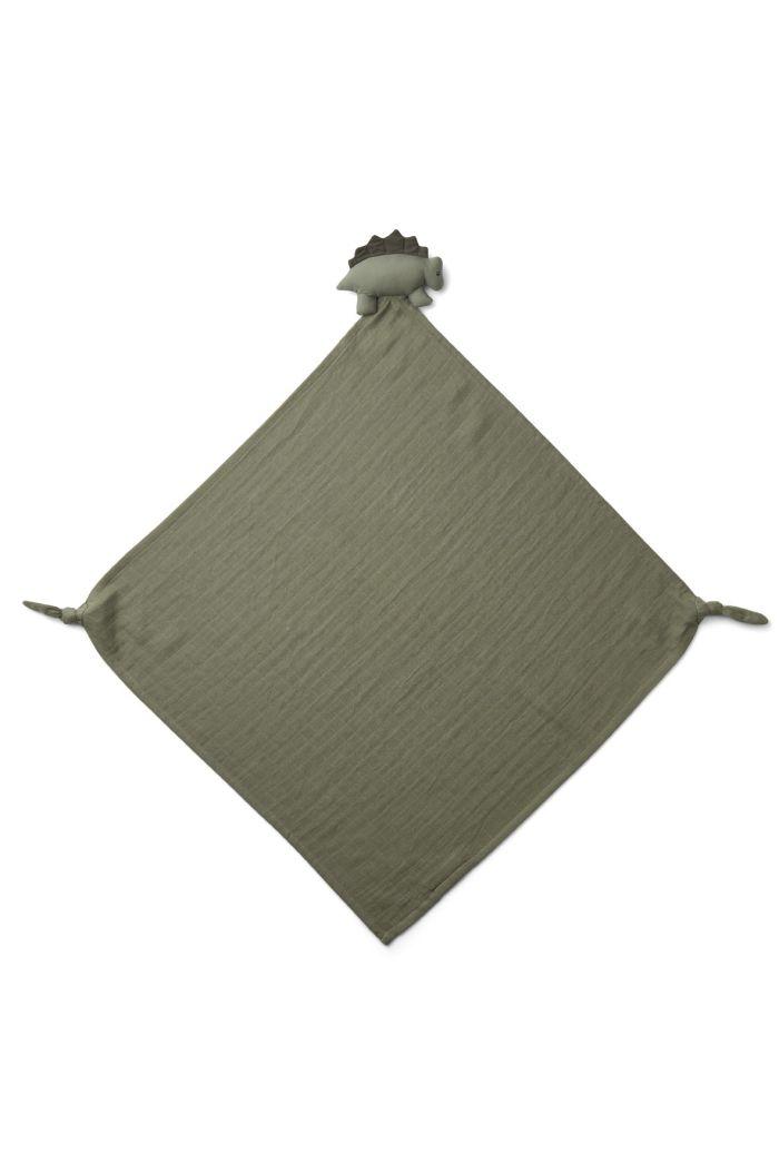 Liewood Robbie multi muslin cloth Dino faune green_1