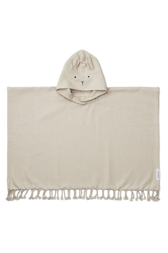 Liewood Otis poncho Rabbit Sandy_1