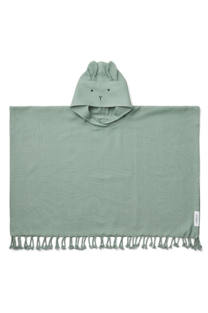 Liewood Otis poncho Rabbit peppermint_1