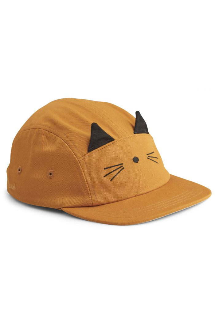 Liewood Rory Cap Cat Mustard_1