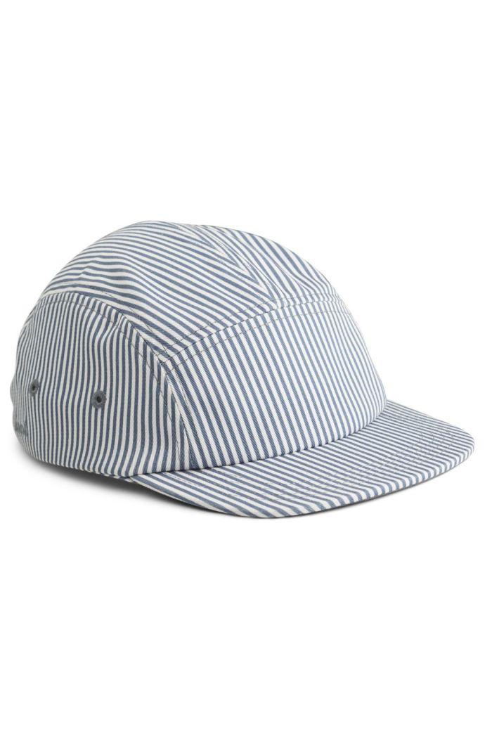 Liewood Rory Cap Blue Wave Stripe Creme_1