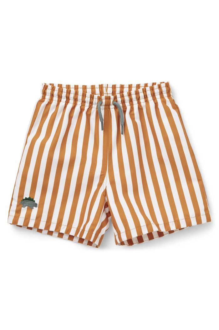 Liewood Duke board shorts Stripe: Mustard/white_1