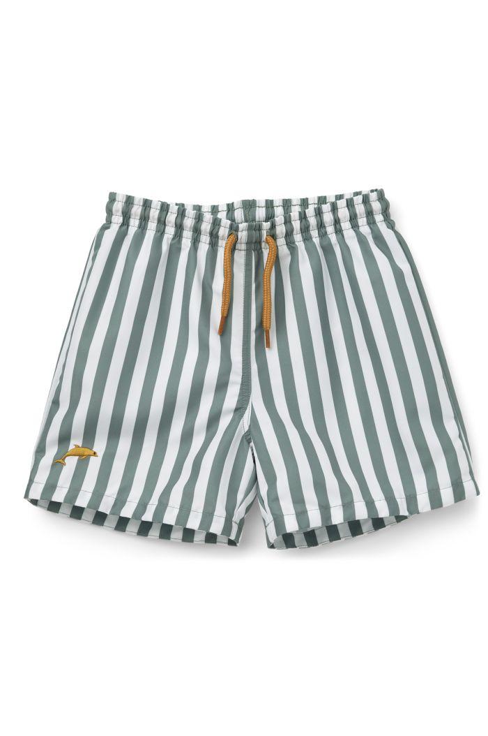 Liewood Duke board shorts Stripe: Peppermint/white_1
