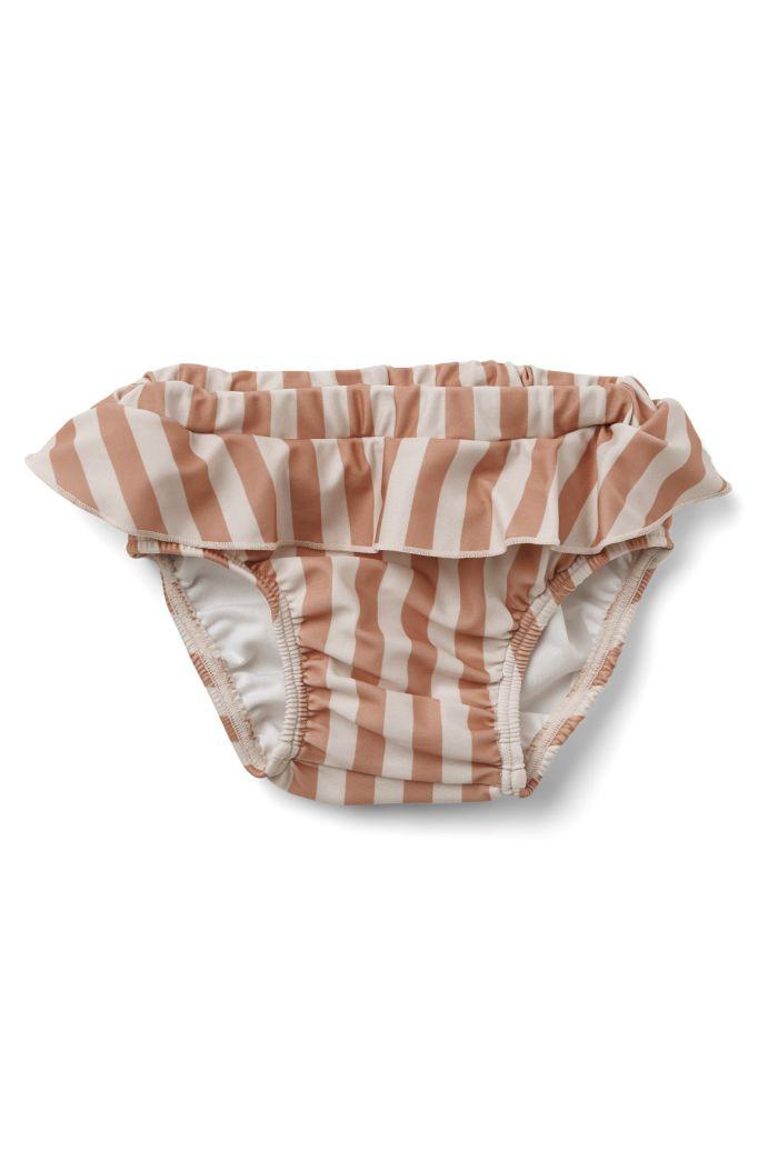 Liewood Elise baby swim pants Stripe: Coral blush/creme de la creme_1