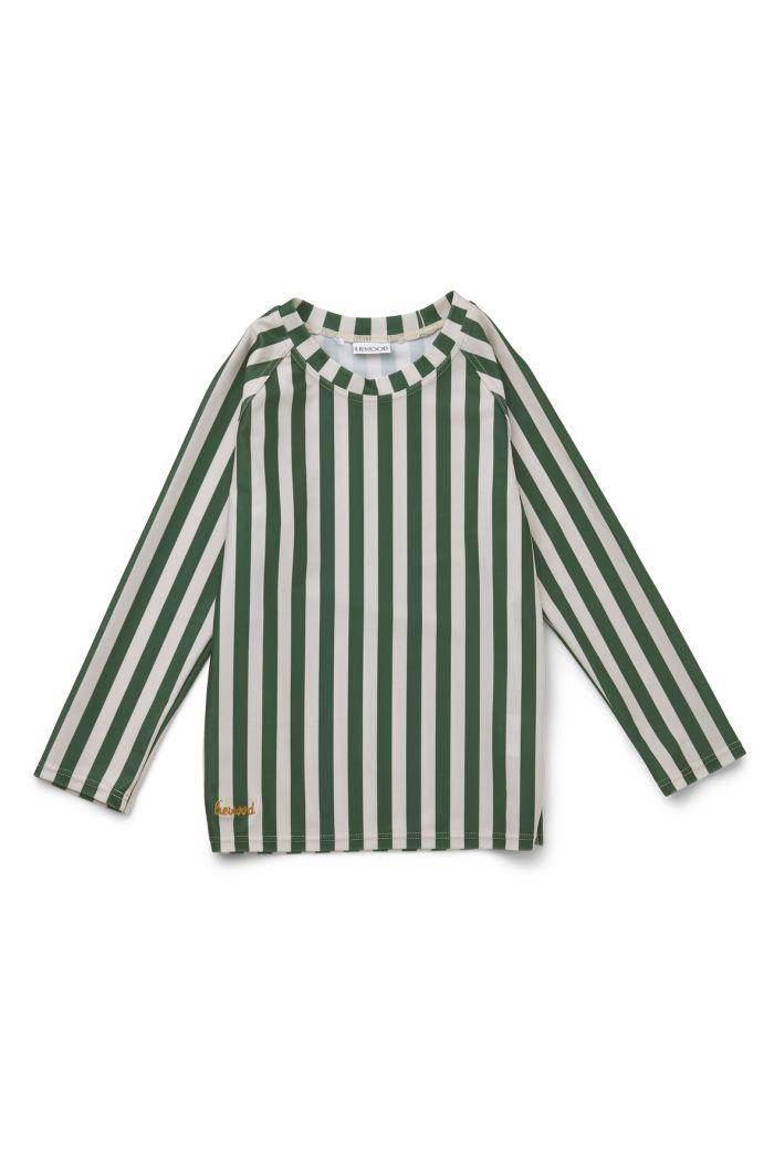 Liewood Noah swim tee Stripe: Garden green/sandy_1